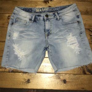 Machine- Pour Neuf Mode Cut off jean shorts